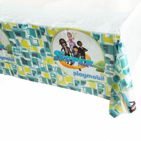 Nappe en plastique Playmobil Super 4 - 130 x 180 cm - My Party Kidz