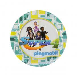 6 Assiettes en carton Playmobil Super 4 - 23 cm