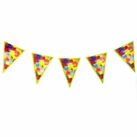 Guirlande Fanions Joyeux Anniversaire Pop - 2,70 m - My Party Kidz