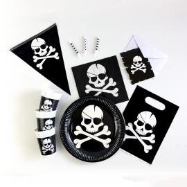 Kit Anniversaire 8 Personnes Pirate Black - My Party Kidz