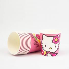 10 Gobelets en carton Hello Kitty - 20cl