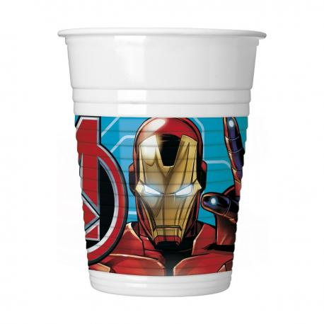 8 Gobelets en plastique Mighty Avengers - 20 cl - My Party Kidz