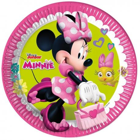 8 Assiettes en carton Minnie - 23 cm - My Party Kidz