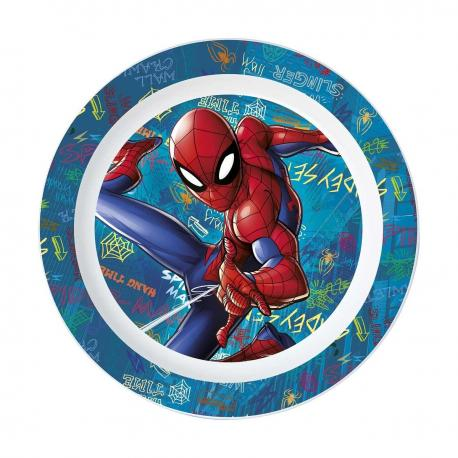 Assiette plate en plastique micro-ondable Spiderman - 20 cm - My Party Kidz
