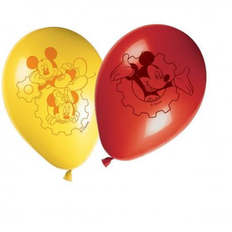 8 Ballons imprimés Mickey - My Party Kidz