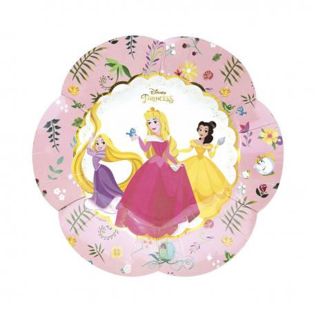 4 Assiettes premium en carton Princesse Disney - 25 cm - My Party Kidz