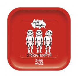 4 Assiettes premium en carton Star Wars Paper Cut - 24 cm