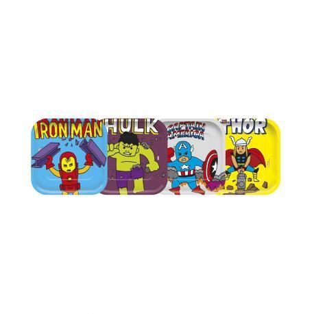 4 Assiettes premium en carton Avengers Pop Comic - 24 cm - My Party Kidz