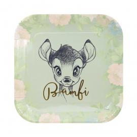 4 Assiettes premium en carton Bambi - 24 cm - My Party Kidz