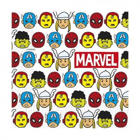 20 Serviettes premium en papier Avengers Pop Comic - 33 x 33 cm - My Party Kidz