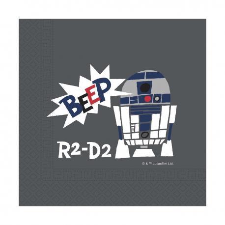20 Serviettes premium en papier Star Wars Paper Cut - 33 x 33 cm - My Party Kidz