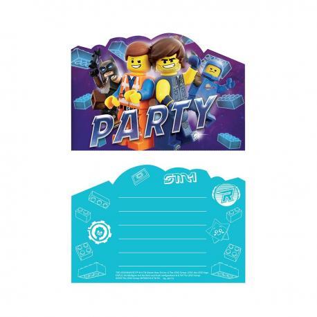 8 Invitations La Grande Aventure Lego 2 - My Party Kidz