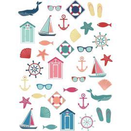74 Stickers Bord de Mer