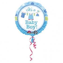 """Ballon alu """"it's a baby boy"""" - 43 cm - My Party Kidz"""