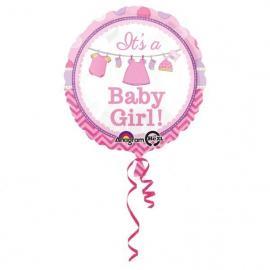 "Ballon alu ""it's a baby girl"" - 43 cm - My Party Kidz"