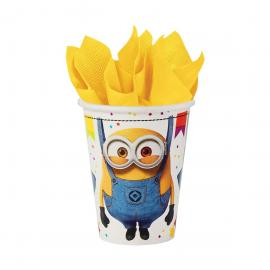 8 Gobelets en carton Minions 2 - 25 cl - My Party Kidz