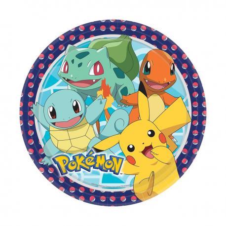8 Assiettes en carton Pokemon Friends - 23 cm - My Party Kidz
