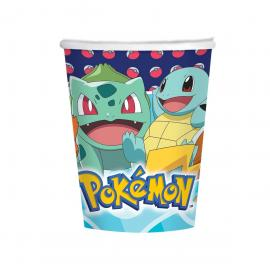 8 Gobelets en carton Pokemon Friends - 25 cl - My Party Kidz