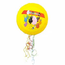 Pinata ronde Barbapapa en carton - diam 50 cm - My Party Kidz