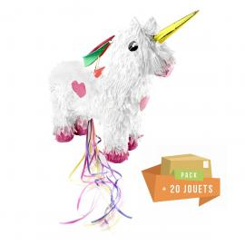 Pack pinata Licorne + 20 jouets - My Party Kidz