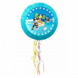 Pinata ronde Pirate en carton - diam 50 cm - My Party Kidz