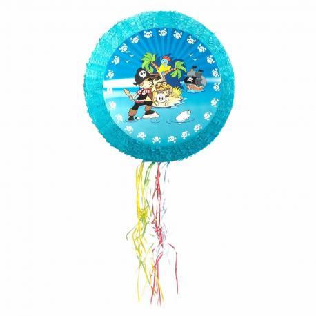 Pinata ronde Pirate en carton - diam 50 cm - My Party Kidz