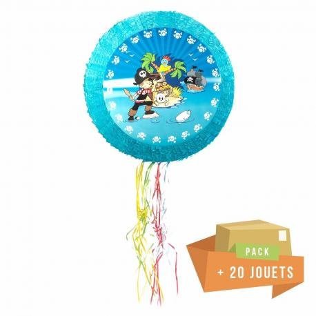 Pack pinata Pirate + 20 jouets - My Party Kidz