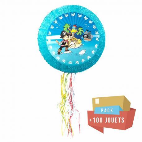 Pack pinata Pirate + 100 jouets - My Party Kidz