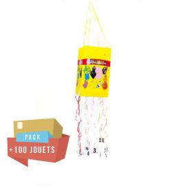 Pack pinata souple Barbapapa + 100 jouets - My Party Kidz