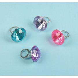 8 bagues gros diamants - My Party Kidz
