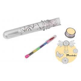 4 Coloriages Mandala avec crayon - 30 x 11.5 cm - My Party Kidz