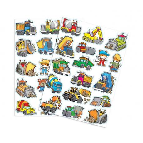 34 Stickers Engins de Chantier - My Party Kidz