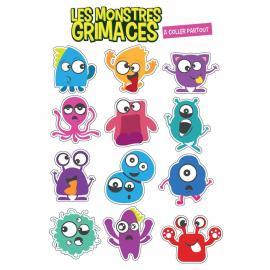 26 Stickers Monstres et Grimaces