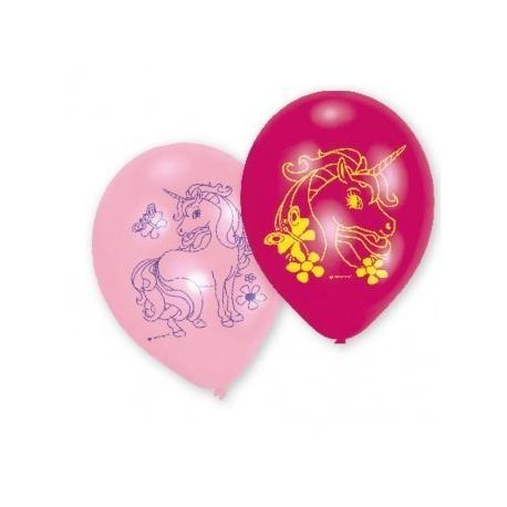 6 Ballons imprimés Licorne - 23 cm - My Party Kidz