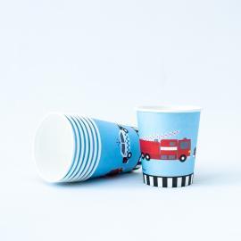 8 Gobelets en carton On The Road - 25 cl - My Party Kidz