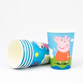 6 gobelets en carton Peppa Pig - 25 cl - My Party Kidz