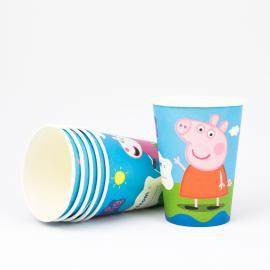6 gobelets en carton Peppa Pig - 25 cl - My Party Kidz