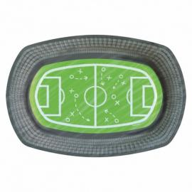 6 Assiettes en carton Stade de Foot - 23 cm - My Party Kidz