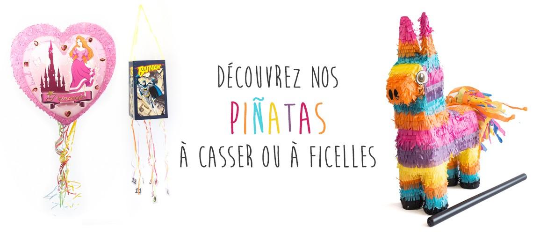 Découvrez notre univers Piñatas - à casser ou à ficelles
